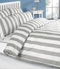 100 cotton louisiana stripe duvet cover set grey stripe