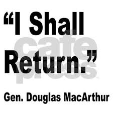 「I shall return」の画像検索結果