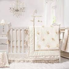 gold 4 piece baby crib bedding set