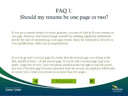 Creating A Great Resume Ppt Video Online Download Gorgeous Should Resumes Be One Page