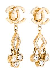 chanel cc crystal chandelier earrings earrings