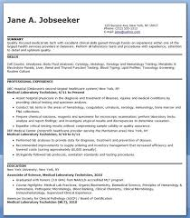 Medical Laboratory Technician Resume Sample | Creative Resume Design ...
