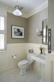 brilliant greige grcloth beadboard basket weave tile check out more crown molding bathroom renovationsbathroom