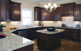 brown cabinets with white countertops desire dark granite throughout plans 6 along 9