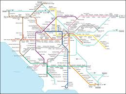 la size fake l a subway map what los angeles would look like with a