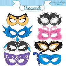 Masquerade Mask Template Fascinating Masquerade Printable Masks Masquerade Mask Printable Etsy