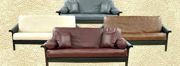 faux leather futon cover covers white