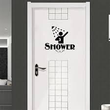 personality restroom shower vinyl sticker door water bathroom sign funny home decoration decal vinyl sticker a2201