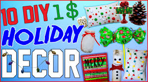easy diy christmas room decorations. 10 diy $1 holiday room decor ideas!   dollar store christmas decor! cheap and easy to make! - youtube diy decorations