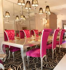 high end dining room furniture. high end silver and pink dining set cat furnituredining room furniture