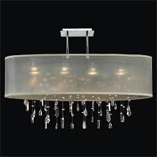 crystal drop chandelier oval shade lifestyles 006mm33sp t 3c