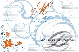 Staceys Seating Chart Gourmet Invitations