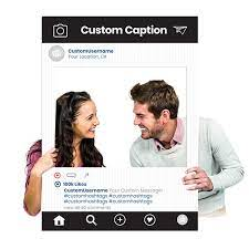 ✓ free for commercial use ✓ high quality images. Custom Printed Instagram Selfie Frame For Social Media Marketing In Black Photography Booth Prop Digital Files Or Corrugated Plastic Sf002k