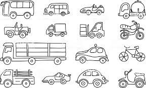 車手描きアイコン ライン アートかわいいベクター アート イラスト Suv