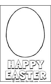 Blank Easter Egg Coloring Pages Getcoloringpagescom