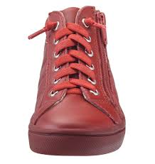 Old Soles Boy's and Girl's 6007 Eazy-Q Red Quilt Stitch Leather High Top  Lace