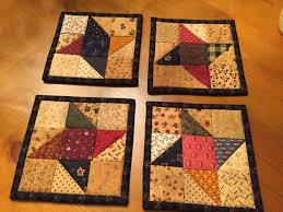 1826 best mug rug images on Pinterest | Crafts, Sew and Cards & Friendship Star Mug Rugs / Quilted Coasters / Scrappy Mug Rugs / Country  Decor… Adamdwight.com