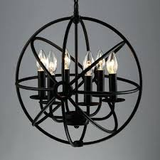 iron globe chandelier industrial led orb chandelier in wrought iron style with globe cage aspen wrought iron globe chandelier