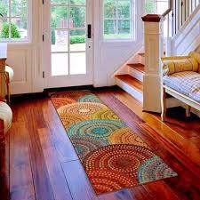 modern multi colored area runner rug