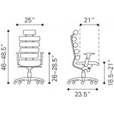 unico office chair. Unico Office Chair White A