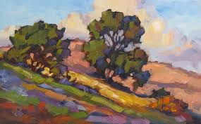 16x10 inch original plein air oil painting by tom brown sold this was painted during a plein air work i conducted in laa canyon on saay