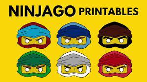 NinjaGO Lego Coloring Page Mask Printables - YouTube