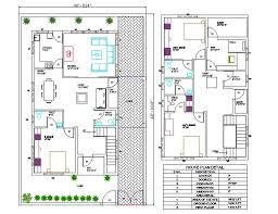 40 x60 house plan with furniture layout