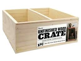 unfinished wood crate wooden crates hobby lobby bulk box