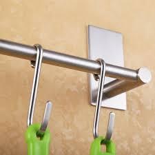 self adhesive bathroom towel bar brushed sus 304 stainless steel bath wall rack hanging towel rod 3m stick on sticky hanger hanger stainless steel towel bar