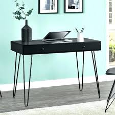 black writing desk with hutch modern desks small white drawers
