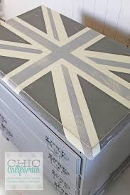painted furniture union jack autumn vignette. Before And After: Painted Furniture Transformation Gray Union Jack Dresser Autumn Vignette I