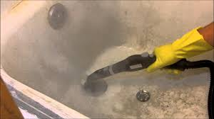 Kitchen Floor Steam Cleaner Steam Cleaning A Filthy Bathtub With The Mcculloch Mc 1275 Youtube