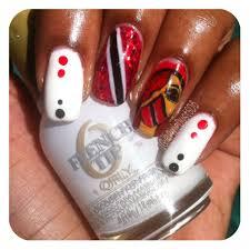 Trinidad Flag Nail Design Gel Polish Nail Trinidad Independence Day Nails Nails
