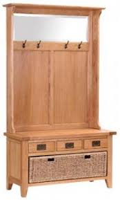 Oak Coat Rack With Baskets Vancouver Petite Oak Hall Tidy 100 Drawer Bench with Coat Rack Mirror 25