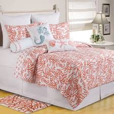 Laura Ashley Coral Coast Coral Quilt Set | Hayneedle &  Adamdwight.com