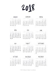 Month At A Glance Calendar Template Year At A Glance Calendar Templates Printables Pinterest Template