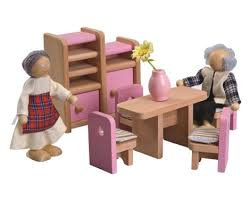 cheap wooden dollhouse furniture. $99 For A Large Wooden Doll\u0027s House, Six Full Rooms Of Furniture \u0026 Four Dolls Cheap Dollhouse