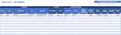 Free Excel Format Sample Inventory Templates | Deaoscura.com