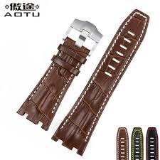 28mm genuine leather watchbands for audemars piguet men watch band calfskin leather clock belt for ap