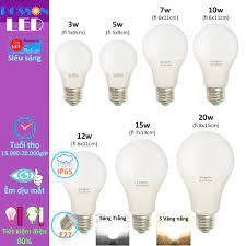 Bóng đèn Led 3w 5w 7w 9w 10w 12w 15w 20w bup tròn A bulb kín chống nước  Posson LB-3-20x - Bóng đèn
