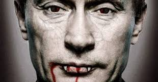 Image result for putin vampire blood images
