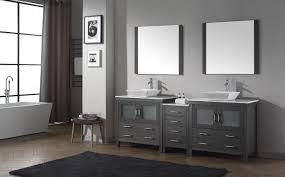 90 Bathroom Vanity Virtu Usa Dior 90 Double Bathroom Vanity Set In Zebra Grey