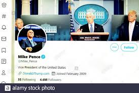 Twitter page (May 2020) : Mike Pence ...