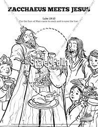 Jesus and zacchaeus coloring page. Luke 19 Story Of Zacchaeus Bible Video For Kids Bible Videos For Kids