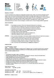 Resume Examples For Nurses Inspiration Resume Examples For Nurses Assistant Sample Of Student Nurse Resume