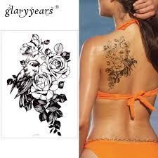 Glaryyears немного большая рука временная татуировка наклейка цветок