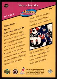 how to make your own trading cards 1999 00 upper deck mvp draw your own trading card wayne gretzky w15