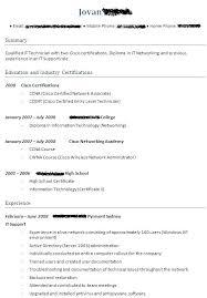 Sample Resume For Ccna Certified Topshoppingnetwork Com