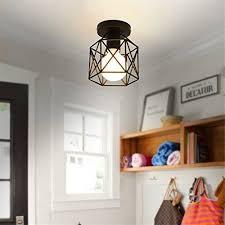 kitchen bar lighting fixtures. Marsbros Metal Retro Ceiling Light Industrial Flush Mount 1 Fixture  Mini Edison Kitchen Bar (Bulb Not Included) (Black3) Kitchen Bar Lighting Fixtures