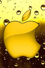 apple iphone logo wallpaper. apple logo with pineapple colour and water drop iphone 5s wallpapers wallpaper